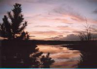 Falls Lake at Sunset