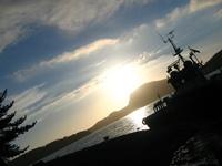 sunset vs boat