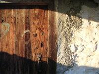 old house door under afternoon