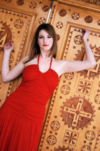 Woman in a red dress 4
