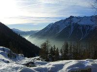 misty chamonix valley