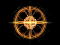 Orange star and circle