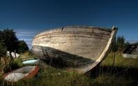 Boat on land - HDR