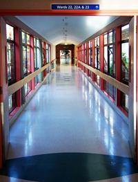 Hospital walkway