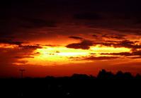 Sunset near mu house