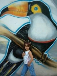 Graffit Wall Bird and mini gir