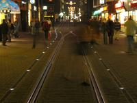 Tram rails in Amsterdam