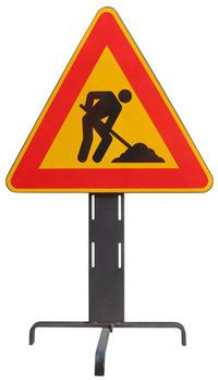 Sign 2: men at work