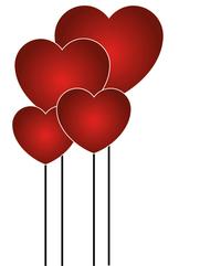 Red Hearts Valentine' Day 1