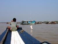 Sailing through Tonle Sap Lake