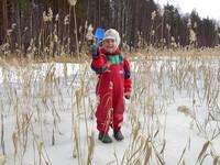 Little girl on frozen lake 3