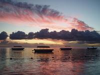 sunset at Mauritius