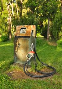 Abandoned gas pump