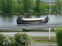 Viking boat in Szczecin
