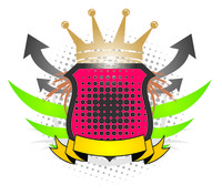 coloured shield