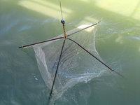 Old fishing-net on a pier