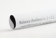 Yin Yang Symbol on Paper and Balance