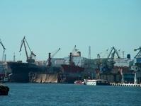 vessels in shipyard