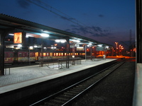 night & train
