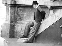 Old man waiting