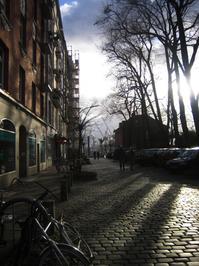 street - against the sun