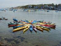 Kayaks in the Bay