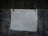 Old cloth on the clothesline