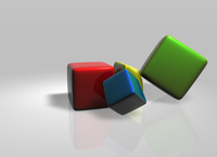 Colored cubes 2