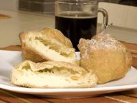 Italian Dessert Sfogliatella and Zeppolle