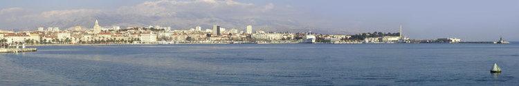 panorama of city Split in Croa