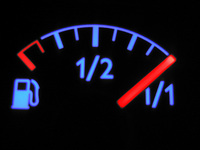 Gas Meter On Full