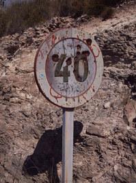 Rusty traffic sign