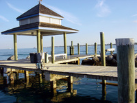 Dock off Nassau, Bahamas
