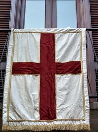 Flag for carnival at Ivrea (Italy)