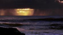 Rain on sea II