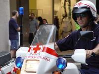 Red cross cop
