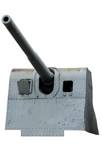 Artillery from polish navy