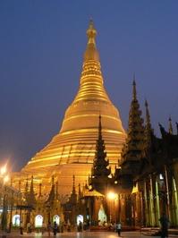 Swedagon Pagoda at night