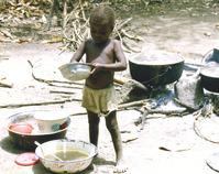 child making breakfast