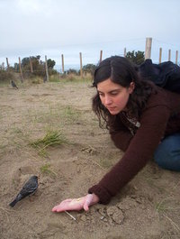 girl feeding bird 2