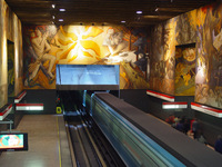 Chile metro station