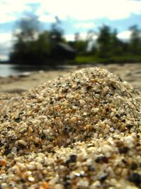 Beach sand macro