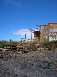Old boat winching house