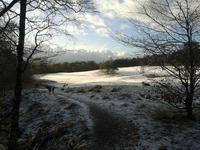 Dougalston Golf Course Milngavie in snow