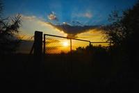 Sun behind the gate