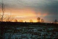 winter sunset Poland