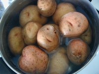 Smiling potatoes