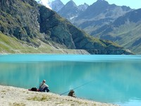 Fishing man in Moiry-CH by PYB