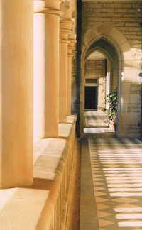 stone hallway
