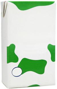 Envase de tetra pack de leche